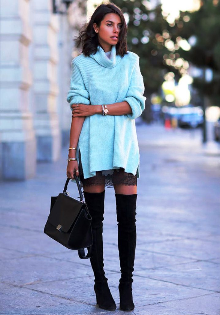 36. Outfit To Wear With Knee High Boots