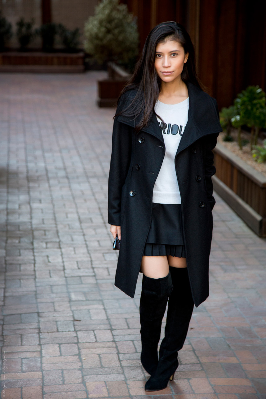 50. Outfit To Wear With Knee High Boots