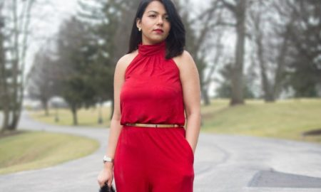 21-red color outfits for women