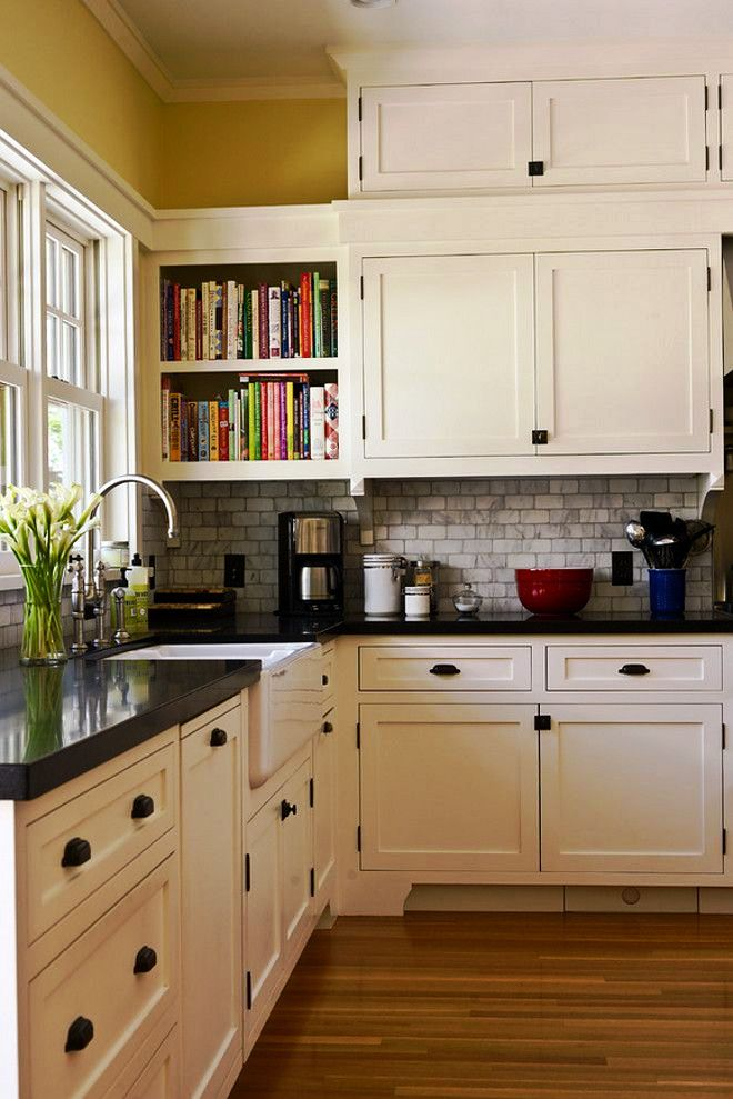 1-White Craftsman Kitchen Ideas