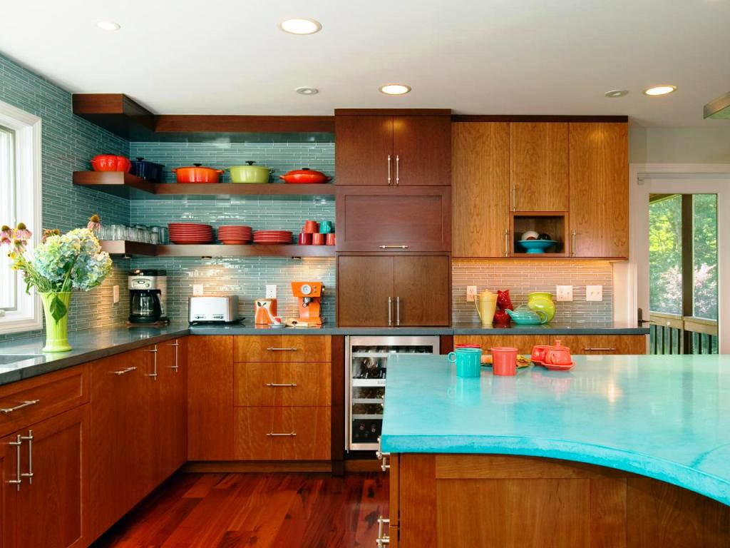 Blue kitchen island colored kitchen cabinets with modern for Slate blue kitchen decor
