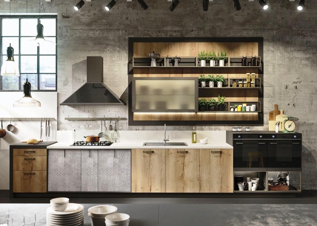8-Grey Industrial Kitchen