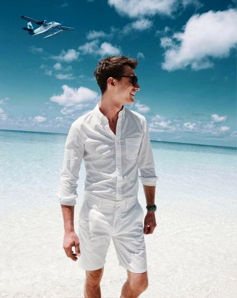 Beach White Outfit For Men