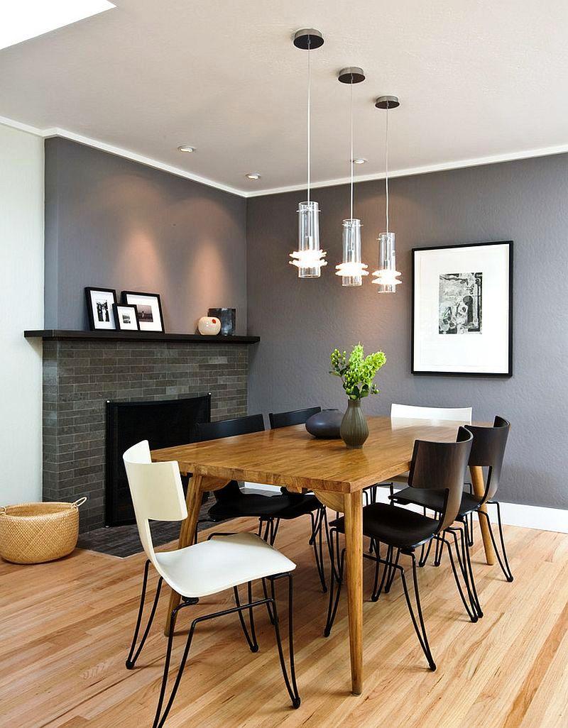 Contemporary Dining Room Grey
