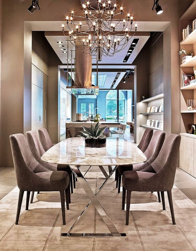 25 amazing contemporary dining room ideas for your home for Contemporary tabletop decor