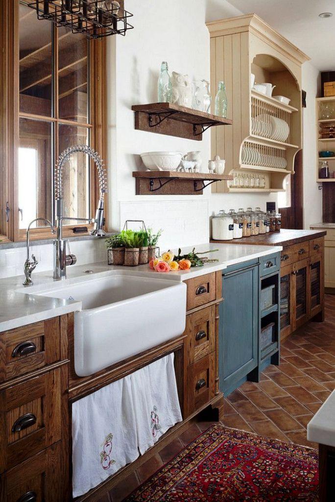 9. Rustic Farmhouse Kitchen