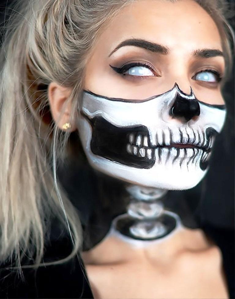 20. Halloween Skull Makeup Ideas
