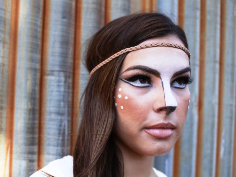 25 Lovely Deer Halloween Makeup Ideas For You