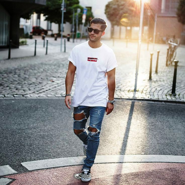 6-Ripped Style Jeans Outfit For Men