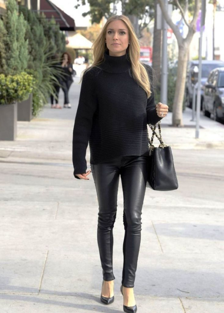 12. Leather Pants Outfit Ideas