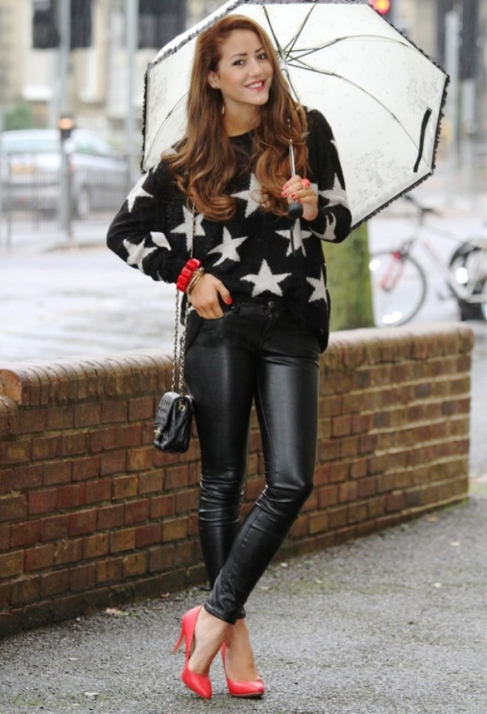 21. Leather Pants Women