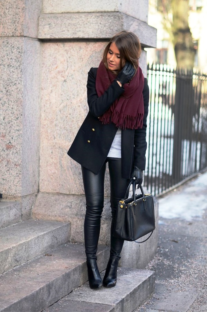 22. Leather Pants Women