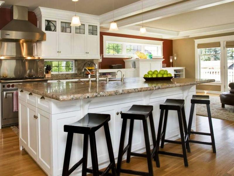 18. Wooden Base Stools For Kitchen