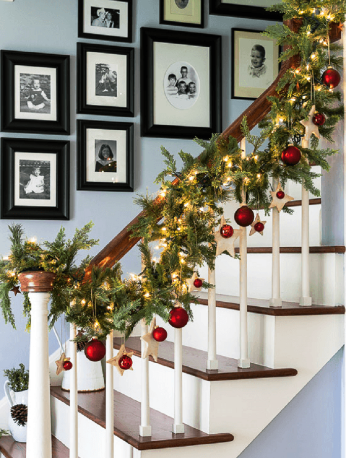 Staircase Decoration With Ornaments