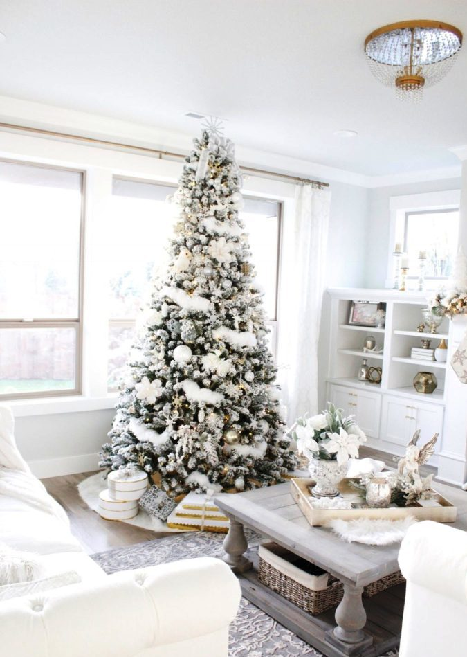 Wintry Christmas Living Room