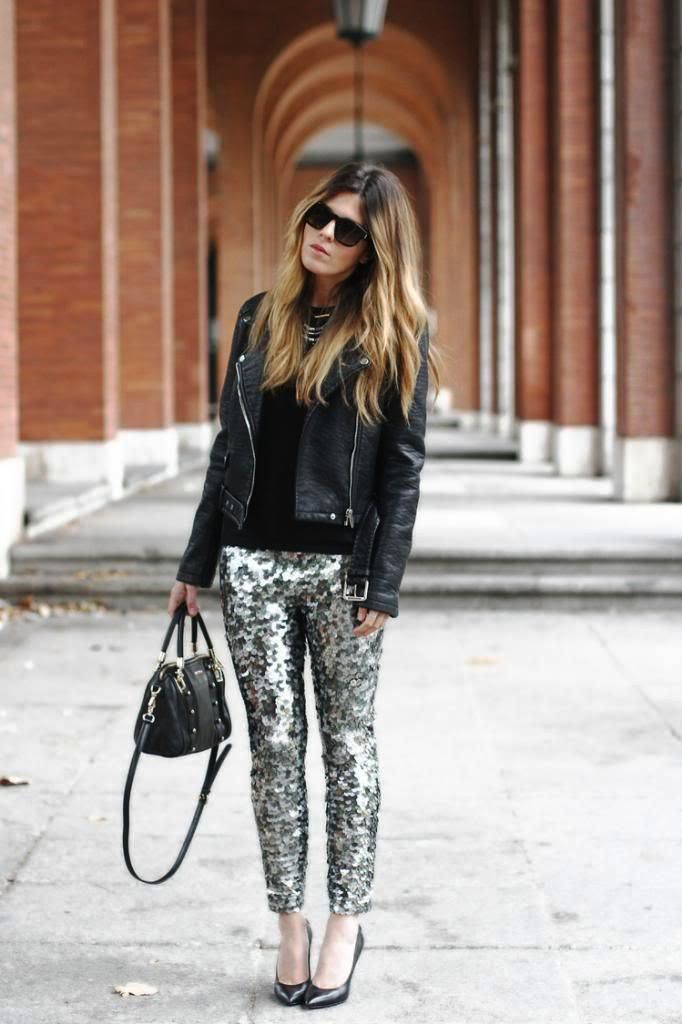 Sequins with Leggings Ideas