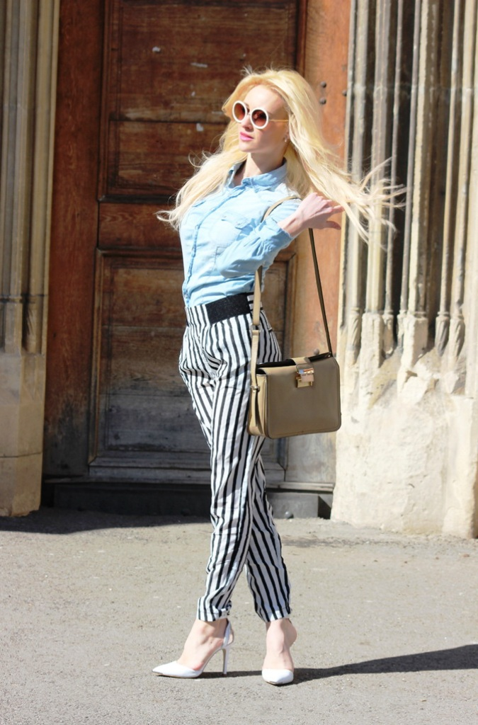 Stylish Striped Pants For Women