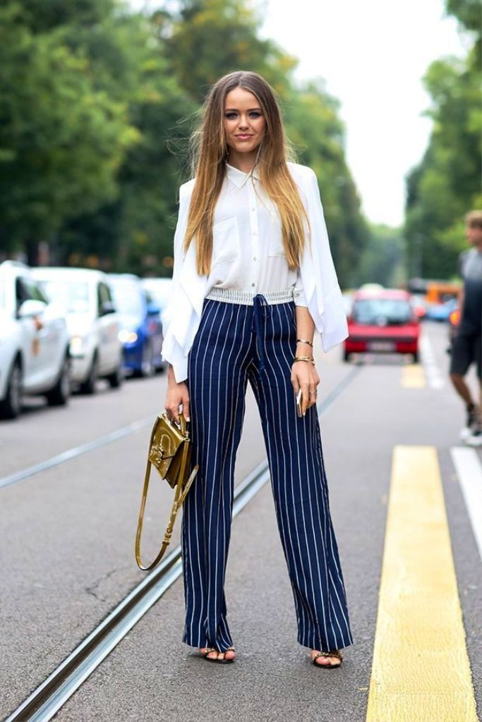 Vertical Striped Pants For Women