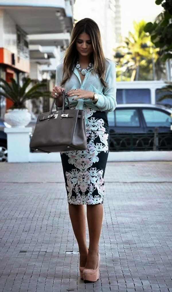 5-Skirt Outfit for office women