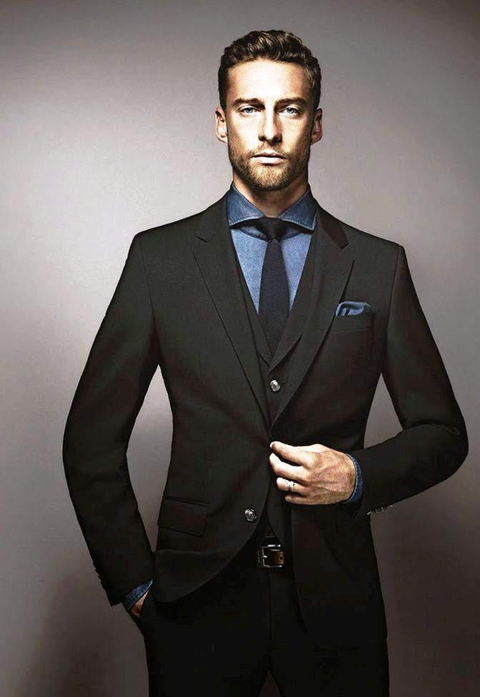 27-black suit fashion ideas for men