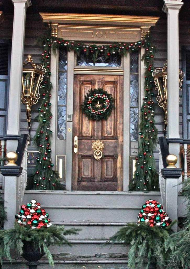 25 christmas front porch decorating ideas - Porch Decorating Ideas Christmas