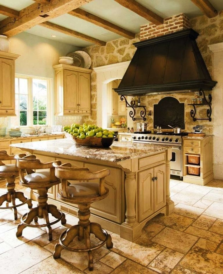 2. French Country Farmhouse Kitchen