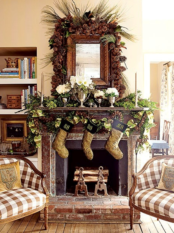 25-Christmas Fireplace Design