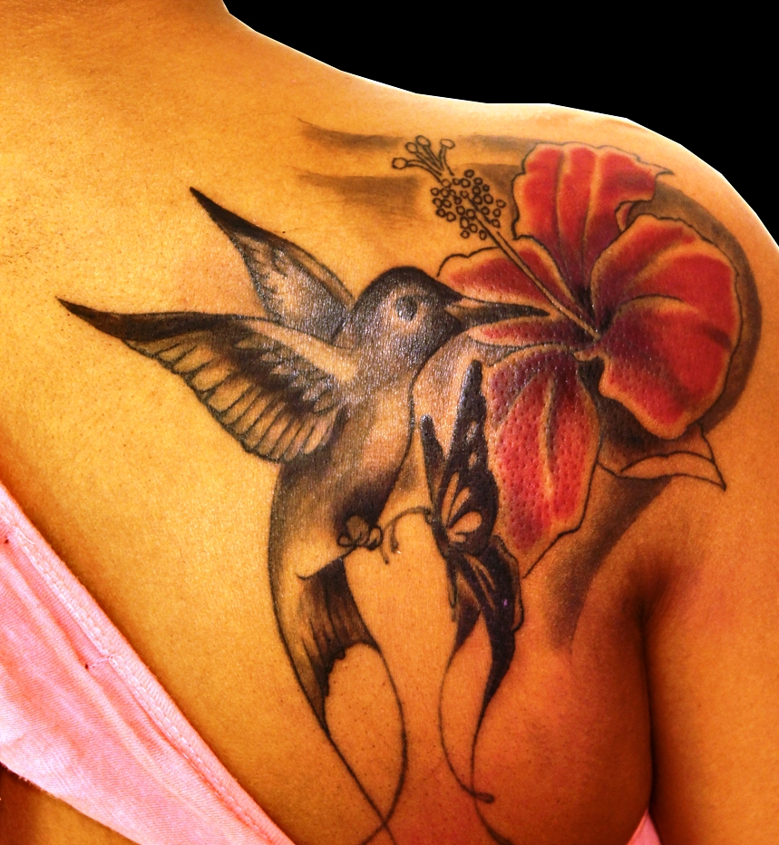 15-Hummingbirds Tattoos Ideas