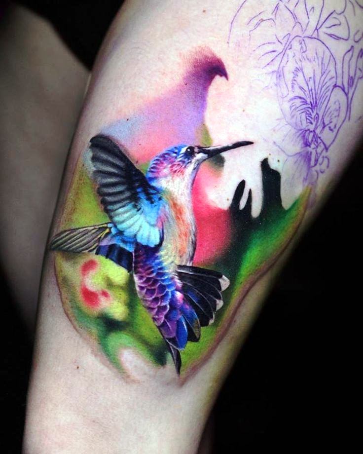 3-Hummingbirds tattoos