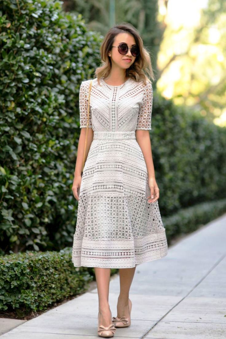 Classic White Dress Outfits To Try (2)