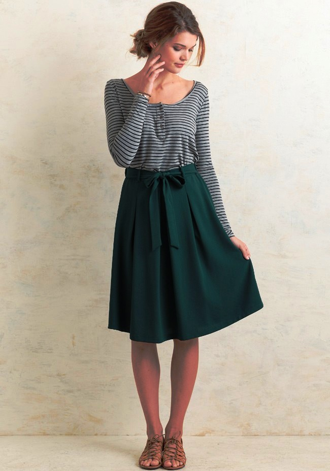 17-Knee Length Skirts