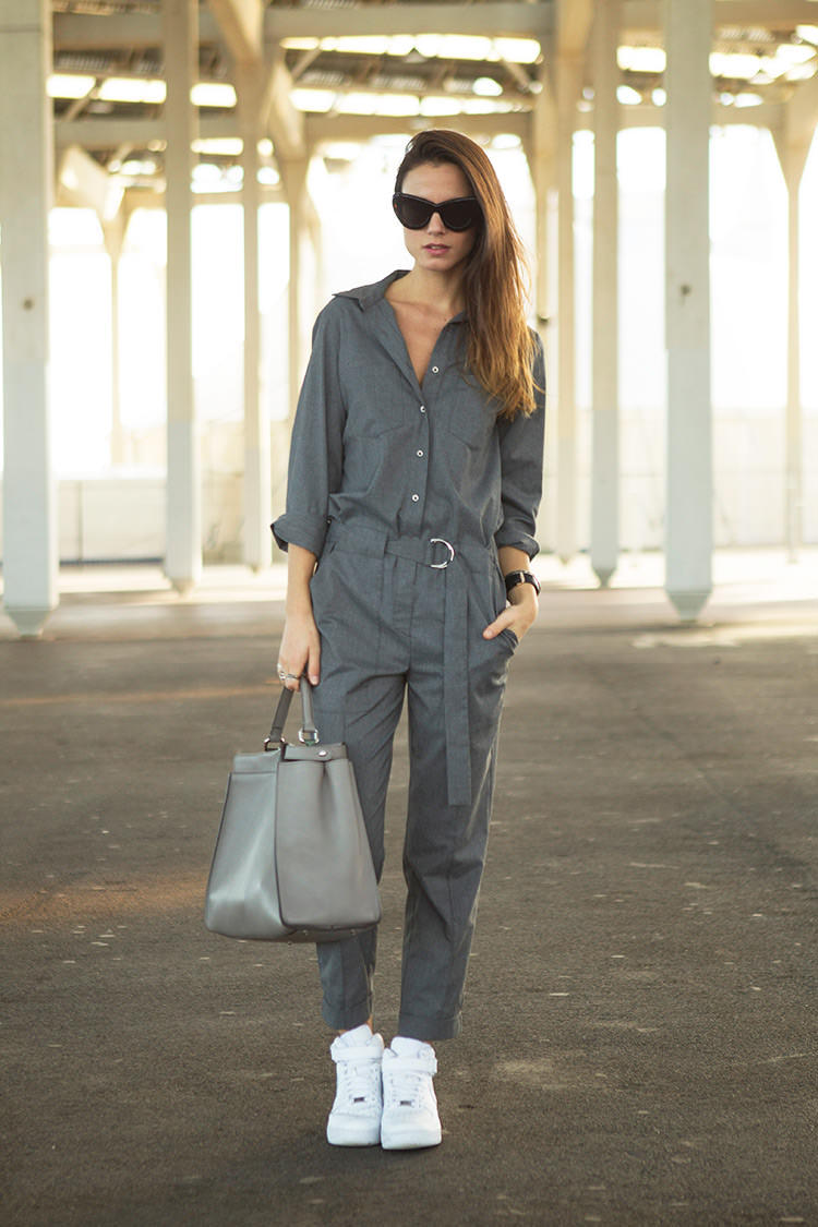 Jumpsuit With White Sneakers For Women