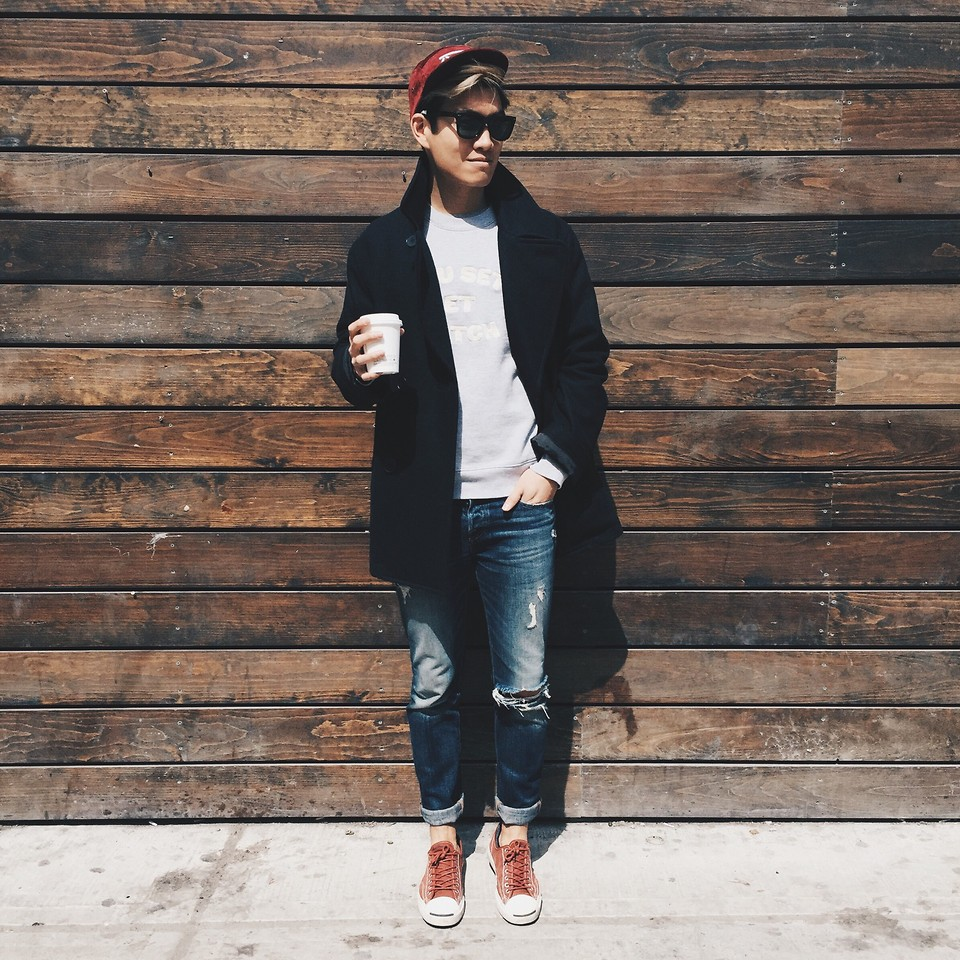 Pea Coats and Sneakers