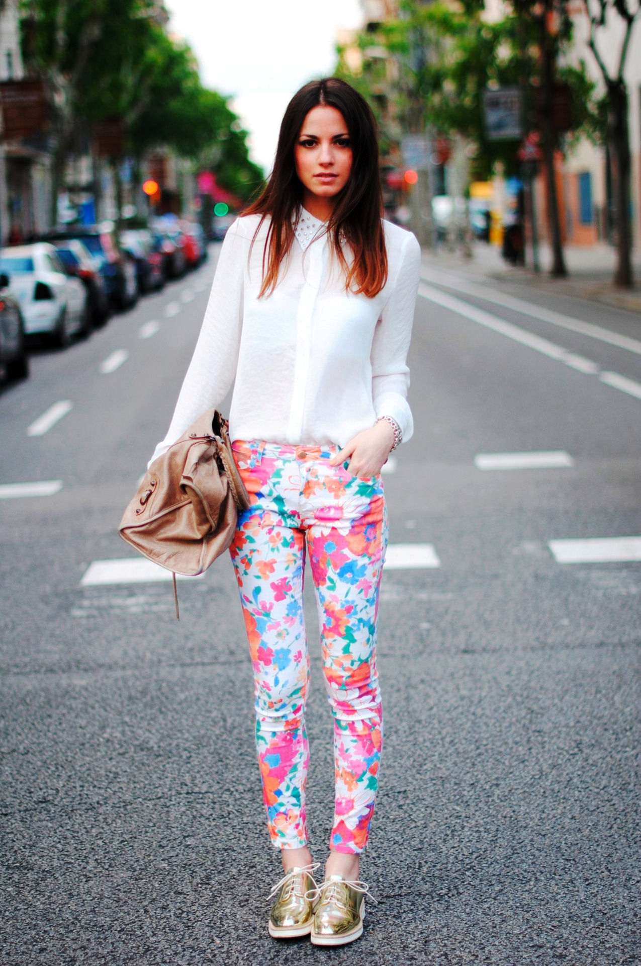 3-Printed Pant Outfit